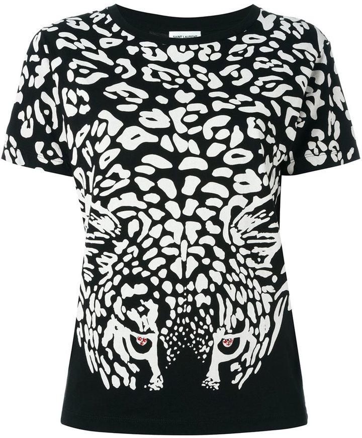 Saint LaurentSaint Laurent leopard print T-shirt