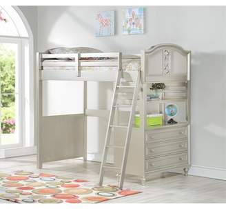 LOFT Harriet Bee Anette Bed with Drawers and Bookcase Harriet Bee