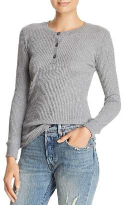 Enza Costa Ribbed Henley Top