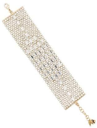 Rosantica metallic crystal embellished wide bracelet