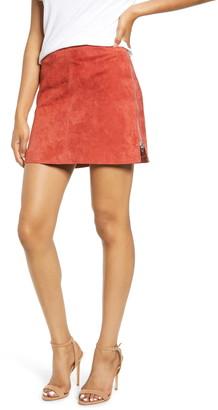 Blank NYC Blanknyc Side Zip Suede Miniskirt