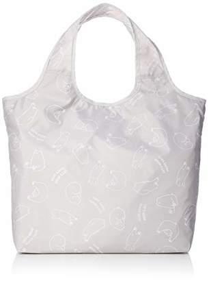 [オーエフエス]ショッピングバッグ クマ柄 クルクルコンパクト保冷保温バッグ グレー シロクマ