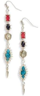 Kendra Scott Leandra Mixed Semi-Precious Stone & CZ Linear Drop Earrings