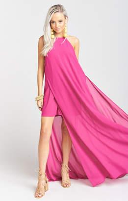 MUMU Bronte Maxi Dress ~ Fuchsia Pop Chiffon
