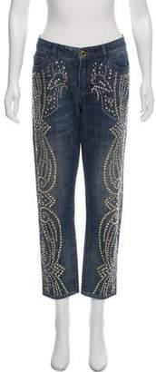 Michael Kors Mid-Rise Embellished Jeans