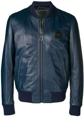 Philipp Plein zipped bomber jacket