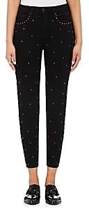 L'Agence Women's Capitola Jewel-Studded Skinny Jeans - Noir