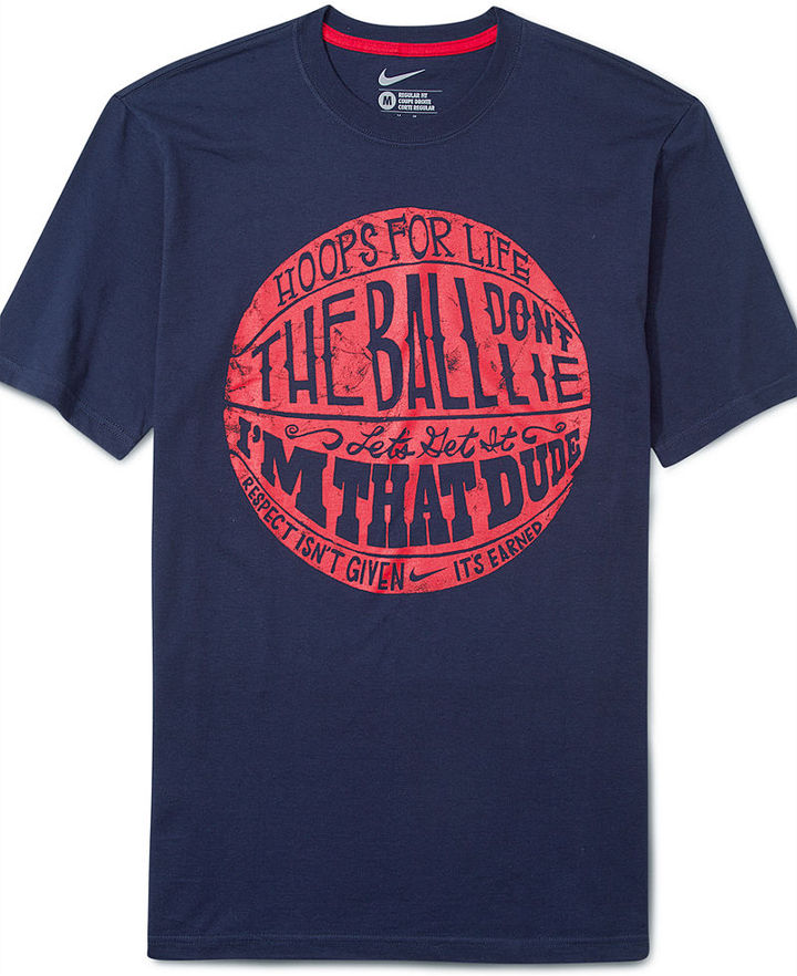 Nike T-Shirt, Core Verpiage Ball Graphic Tee