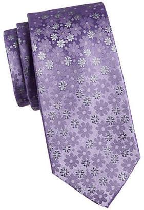 Geoffrey Beene Playful Floral Slim Silk Tie