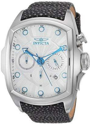 Invicta Men's 'Lupah' Automatic Stainless Steel and Leather Casual Watch