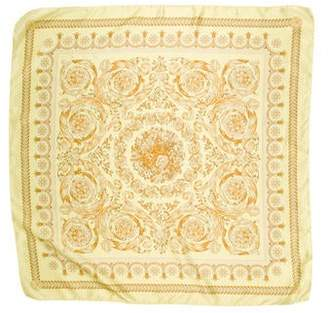 Versace Floral Print Square Scarf
