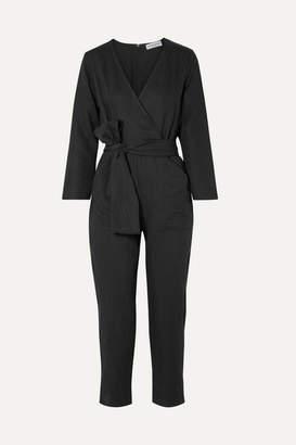 Apiece Apart Morena Wrap-effect Tencel And Linen-blend Jumpsuit