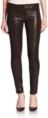 rag & bone/JEAN The Leather Skinny Pants $979 thestylecure.com