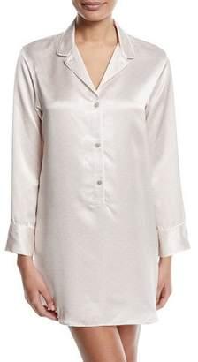 Natori Edo Long-Sleeve Silk Sleepshirt