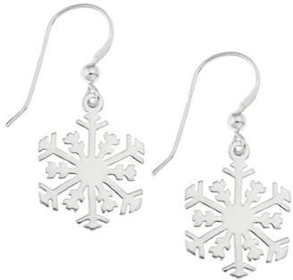 292abaf44 Ornami Sterling Silver Snowflake Hook Wire Earrings for Pierced Ears