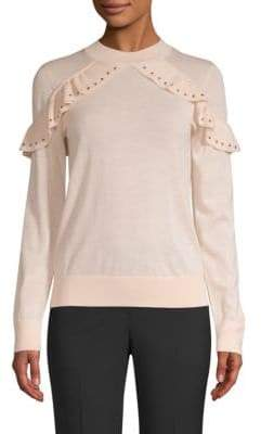Kate Spade So Foxy Ruffle Studded Sweater