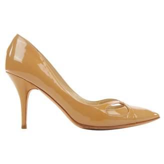 Jimmy Choo Camel Patent leather Heels