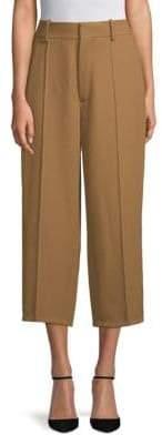 MS MIN Cropped Wide-Leg Wool Pants
