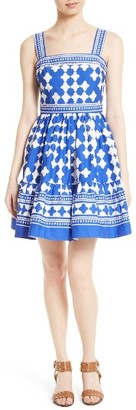 Women's Kate Spade New York Lantern Poplin Flounce Sundress $398 thestylecure.com