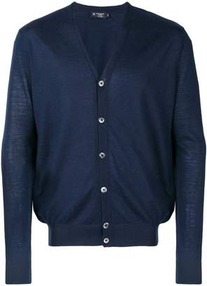 Hackett fine knit V-neck cardigan