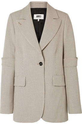 MM6 MAISON MARGIELA Checked Woven Blazer - Beige