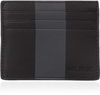 Jack Spade Men's Striped Barrow Leather 6 Card Holder