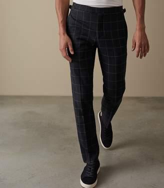 Reiss Sensation Windowpane Check Trousers