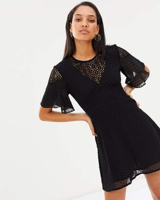 Atmos & Here ICONIC EXCLUSIVE - Crystal Lace Back Dress