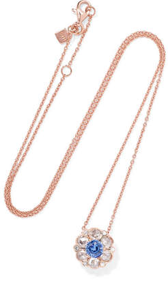 Selim Mouzannar - Beirut 18-karat Rose Gold, Diamond And Sapphire Necklace