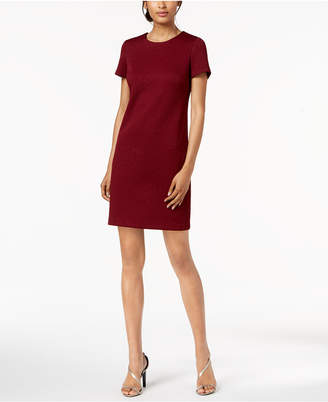 Calvin Klein Embossed Floral Sheath Dress, Regular & Petite