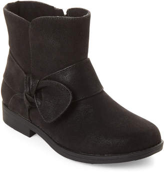Rachel Toddler/Kids Girls) Black Harlow Knot Ankle Boots