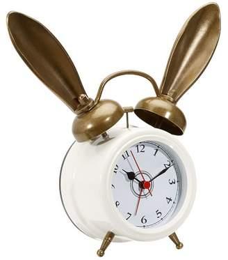Pottery Barn Teen The Emily & Meritt Bunny Alarm Clock, White