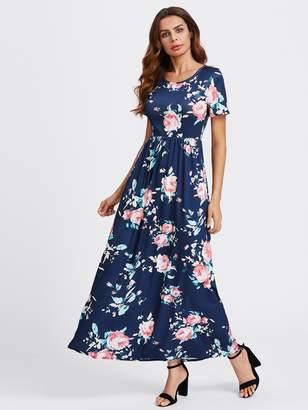 Shein Flower Print Maxi Dress
