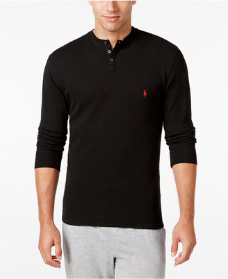 Polo Ralph Lauren Men's Solid Thermal Henley Top $49.50 thestylecure.com