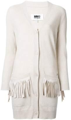 MM6 MAISON MARGIELA fringed pocket cardigan