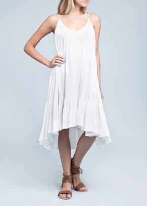Moon River V-Neck High/Low Midi Dress