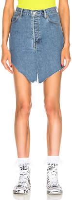 Vetements Side Cut Denim Skirt in Blue | FWRD