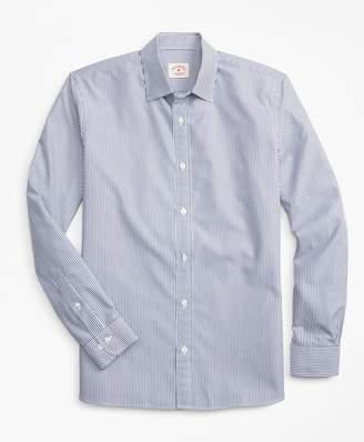 Brooks Brothers Striped Nine-to-Nine Cotton Poplin Shirt