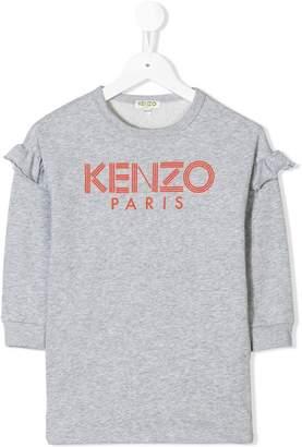Kenzo ruffle trim jersey top