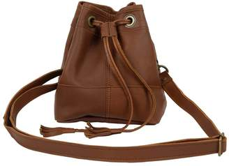 MAHI Leather - Mini Bucket Drawstring Bag In Vintage Brown Leather