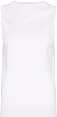 Telfar open-back high-neck stretch-cotton tank top