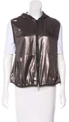 Brunello Cucinelli Silk Hooded Vest