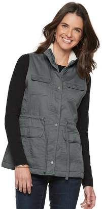 Sonoma Goods For Life Petite SONOMA Goods for Life Sherpa-Lined Utility Vest