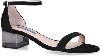 Stuart Weitzman Simple Lucite Sandals 65