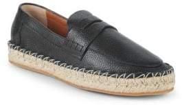 Valentino Classic Leather Espadrilles