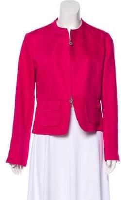 Armani Collezioni Collarless Zip-Up Jacket