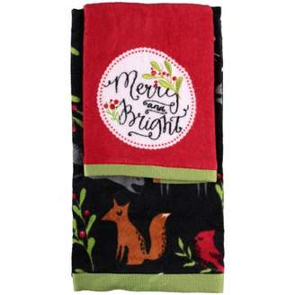 Holiday Time Merry Winter Hand & Tip Towel Set 2 pc Pack