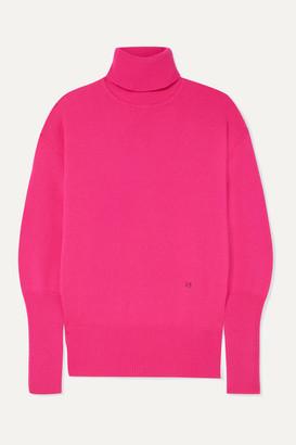 Victoria Beckham Cashmere-blend Turtleneck Sweater - Fuchsia