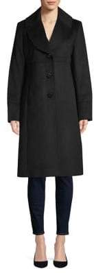 Jones New York Notched Shawl Collar Coat