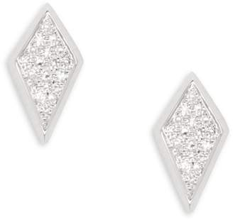 Ef Collection 14K White Gold Diamond Stud Earrings